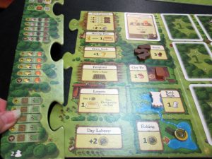 Agricola Revised Edition puzzle piece extension for 2-player game