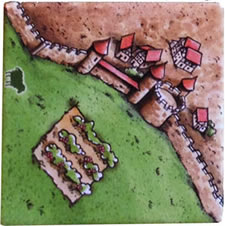 Carcassonne: Hills & Sheep vineyard tile