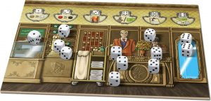 Grand Austria Hotel - dice action board