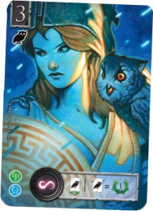 Elysium - sample promo card - Athena Family