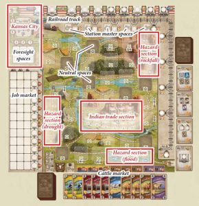 Great Western Trail game board