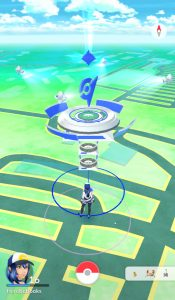 Gym from outside in Mystic team's controls