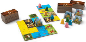 Kingdomino game in progress
