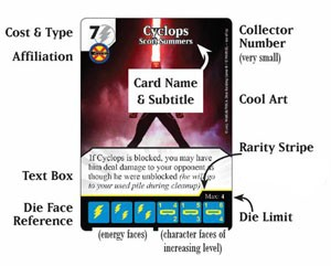 Marvel Dice Masters - character card