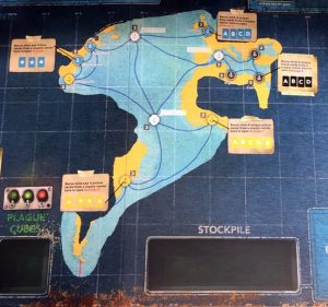 Pandemic Legacy: Season 2 - starting map