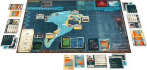 Pandemic Legacy: Season 2 - First Game in Progress