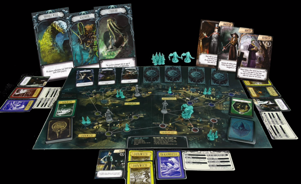 Pandemic: Reign of Cthulhu components