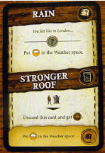 Robinson Crusoe event card Rain