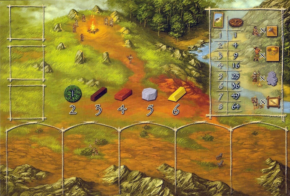 Stone Age Player Board The Glass Meeple