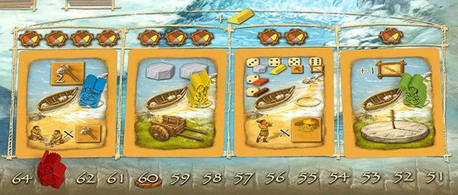 Stone Age: Anniversary - new Civilization Card display area on Winter board
