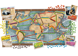 Ticket to Ride: Rails & Sails -The World map