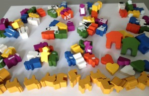 Tuscany- Special Workers and other new meeples