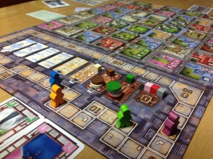 Building and Specialists Tracks on Urbania game board