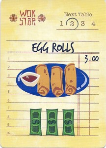 Wok Star Egg Rolls Order Card