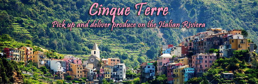 Cinque Terre - Pick up and deliver produce on the Italian Riveria